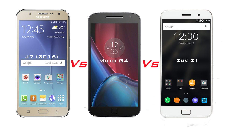 Samsung Galaxy J7 (2016) vs Motorola Moto G4 Plus 32 GB vs ...
