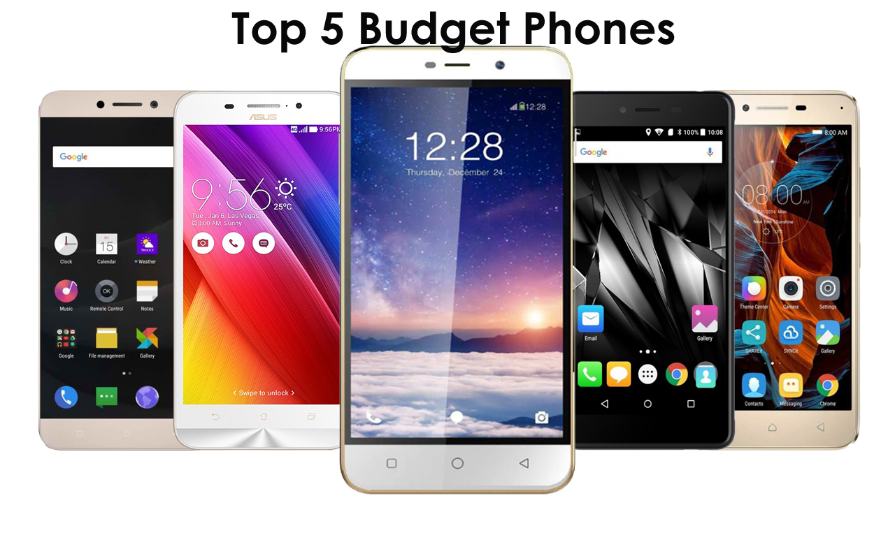 Top 5 Budget Smarphones