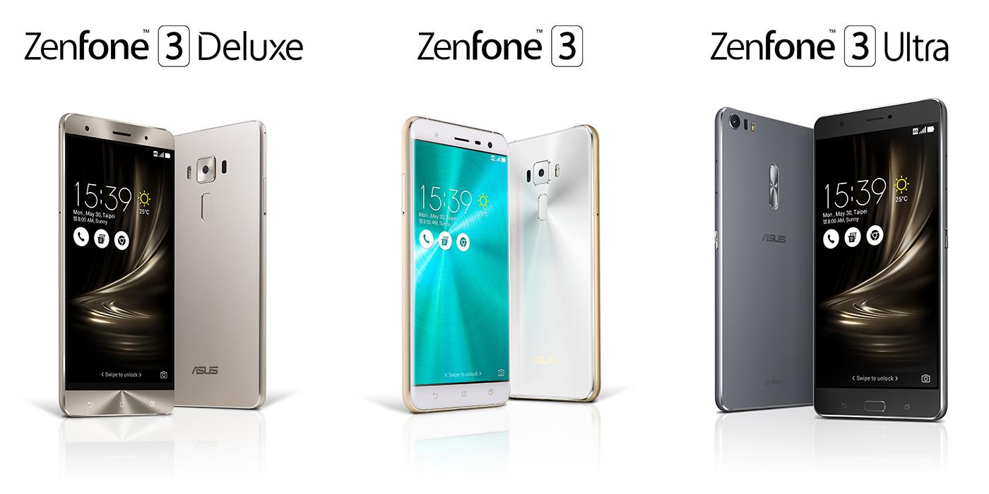 Zenfone 3 vs Zenfone 3 Ultra vs Zenfone 3 Deluxe