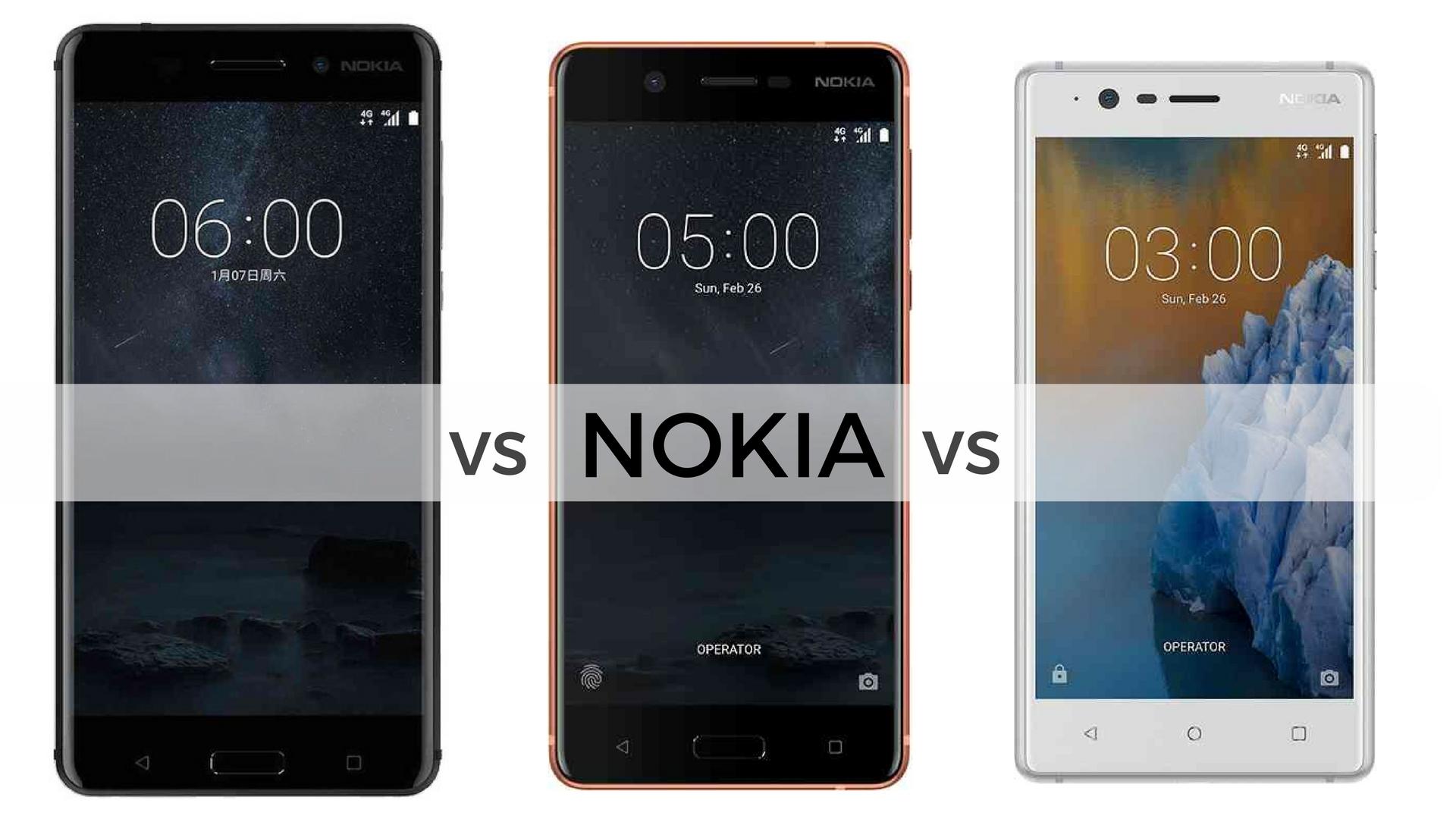 Nokia 6 vs Nokia 5 vs Nokia 3