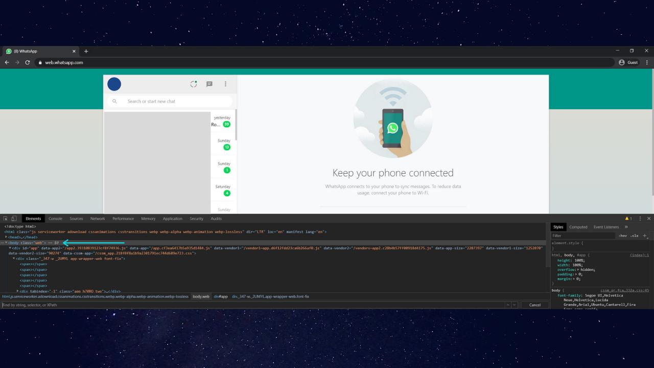 How to Enable Whatsapp Web Dark Mode 2