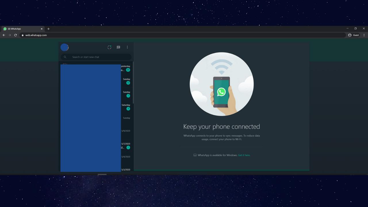 How to Enable Whatsapp Web Dark Mode 3
