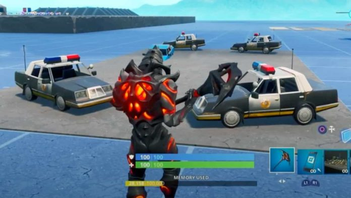 Fortnite Removes Police Cars in support of Black Lives Matters