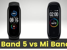 Mi Band 5 vs Mi Band 4 Price, Specifications and Features Comparison