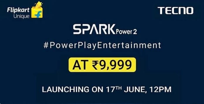 Tecno Spark Power 2 To Launch in India on June 17th as Flipkart Exclusive