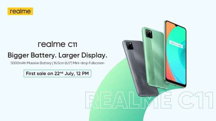 Realme C11 With 5000mAh Battery and MediaTek Helio G35 SoC Launched In India