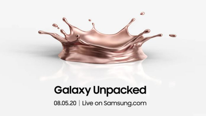 Samsung Galaxy Unpacked 2020 Event Page Goes Live Galaxy Note 20, Note 20 Ultra & Galaxy Fold 5G
