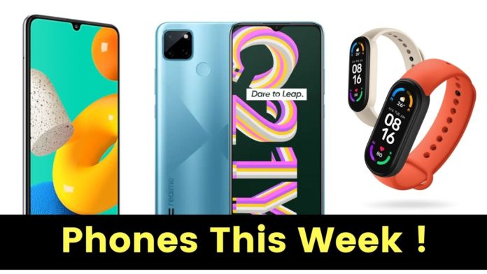 Phones To Launch This Week: Vivo Y33S, Samsung M32 5G, Realme C21Y, and Mi Band 6
